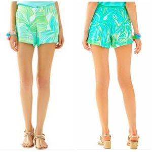 NWT Lilly Pulitzer Jeannie Fronds Place Shorts 14